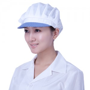 GC06 체크 반망사 모자약사,실험,위생,단순,깔끔,무지,유니폼,단체복,청결,심플,영양사,의사,HACCP,모자
