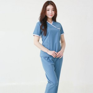 YN-8053 간호복 SET간호사복 브이넥 간호유니폼 예쁜간호복 반팔 여름용간호복 간호사하복 유니폼 상하의세트  유니폼맞춤