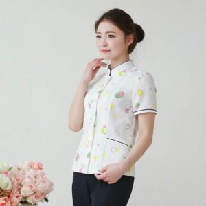 YN-1631 간호복간호사복 반팔병원복 상하의세트 예쁜간호사복 무늬간호복 카라간호복 병원가운 병원복 유니폼 제작