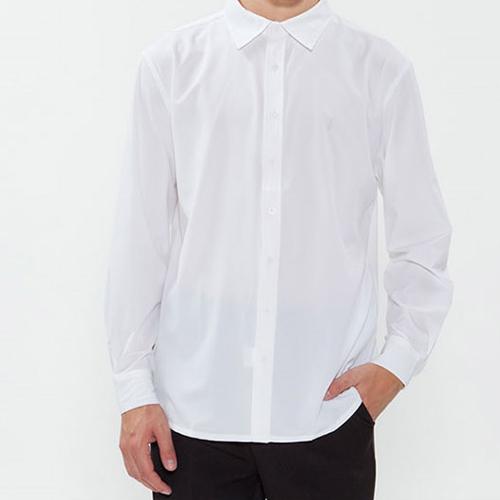 남성 긴팔 단색 셔츠/ 화이트(Y-101L)
