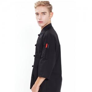 SOO-123 검정45수 7부조리복양식,쉐프복,패션조리복,예쁜조리복, 주방,조리사,요리사,한식,일식,품질,고급호텔