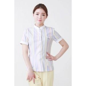 YN-1602 간호복간호사복 병원복 상하의세트 스트라이프 줄무늬 파스텔간호복 예쁜간호사복 병원유니폼 간호사유니폼